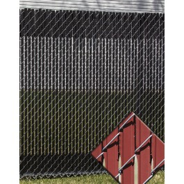 6' Chain Link Fence Feather Lock Privacy Slats