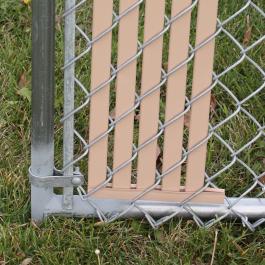 New Bottom Lock Privacy Slat Sample