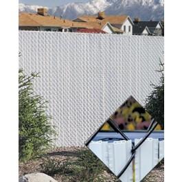 4' Chain Link Fence Winged Slat Privacy Slats