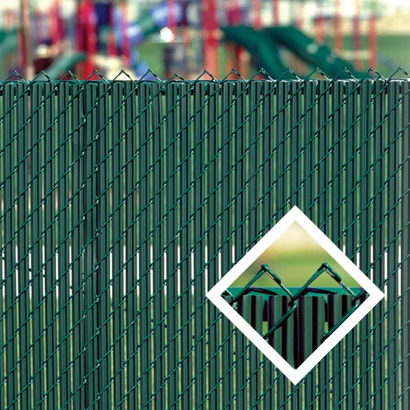 PDS 3' Chain Link Fence LiteLink Privacy Slats (Redwood)