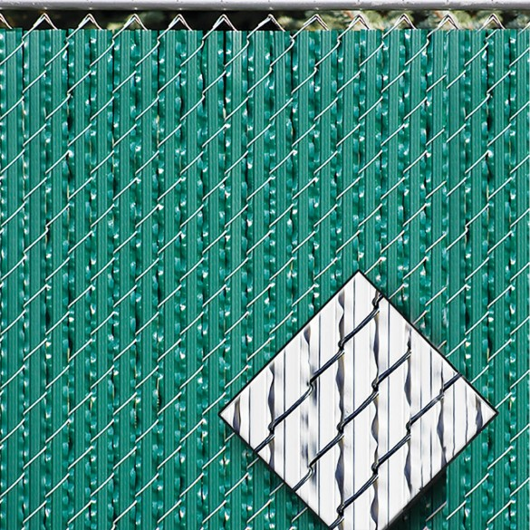 Ultimate Slat 8' High Privacy Slats for Chain Link Fence (White, 2 1/4 Inch)