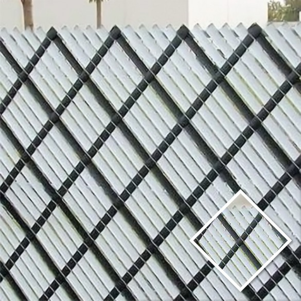 10' Chain Link Fence Aluminum Privacy Slats