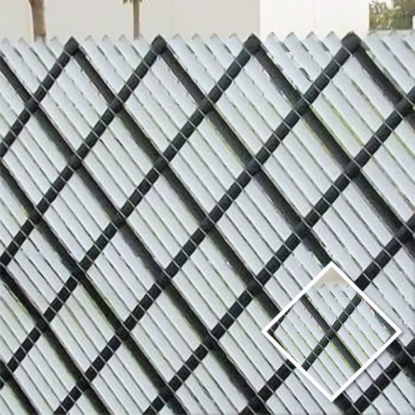 3.5' Chain Link Fence Aluminum Privacy Slats (White Shown As Example)
