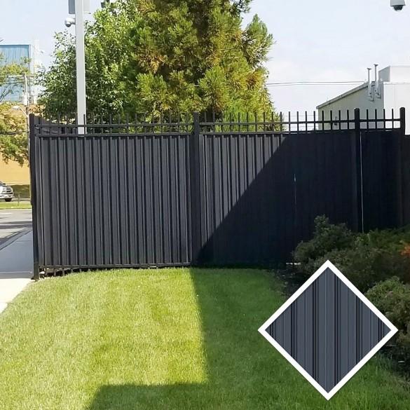 Ornamental Aluminum Fence Privacy Slats Louvers Sample