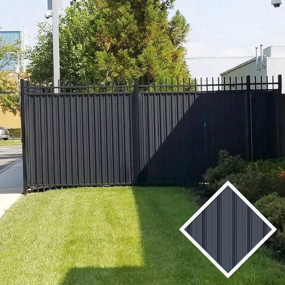 "5' Ornamental Fence Privacy Slats Kit For 5/8"" Sq. Pickets (25 Slats)"