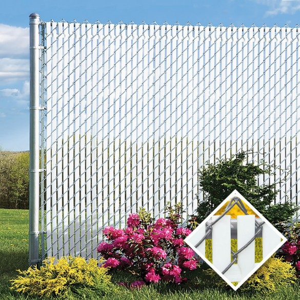 PDS 3' Chain Link Fence Top Locking Privacy Slats