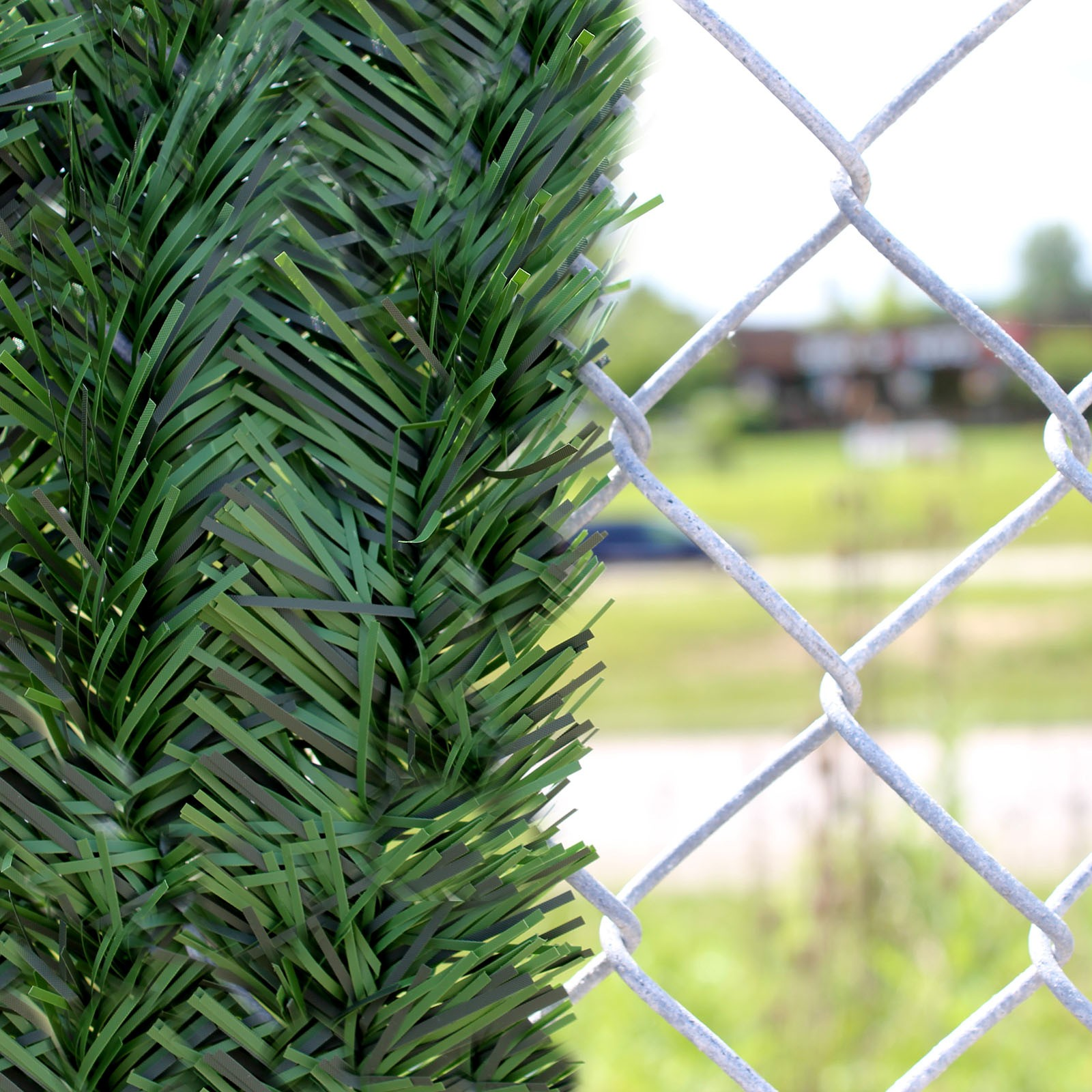 Privacy screen for chain link fence sears - 5u0027 Chain Link Fence Hedge Slats