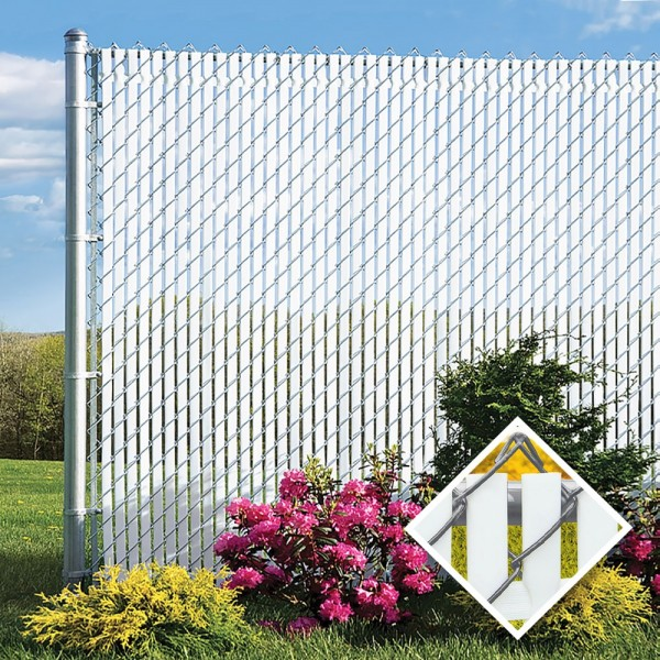 PDS 8' Chain Link Fence Top Locking Privacy Slats
