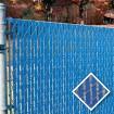 PDS 3' Chain Link Fence Bottom Locking Privacy Slats (Light Blue, 2 1/4 Inch)