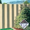 PDS 4' Chain Link Fence FinLink Privacy Slats (White, 2 Inch)