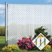 PDS 8' Chain Link Fence Top Locking Privacy Slats (White, 2 Inch)