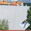 PDS 8' Chain Link Fence Winged Slat Privacy Slats (Beige)