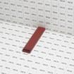 Bottom Lock Privacy Slat Sample (Redwood Shown) - Grid Shown For Scale